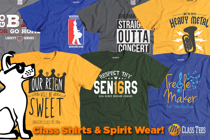 Class Shirts, Senior Shirts, Spirit Wear
