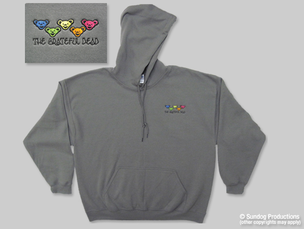 logo embroidered hoody